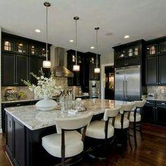 Dark cabinets in kitchens