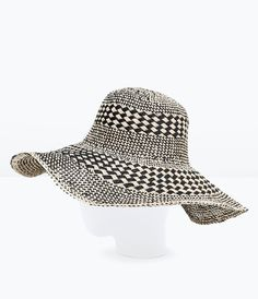 Image 3 of TWO-TONE WIDE BRIM HAT from Zara