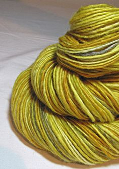 Handspun Yarn Gently Thick and Thin Wworsted by SheepingBeauty, $34.00