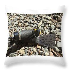 "Slug Tool Throw Pillow 14"" x 14"""