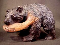 Carved wooden bear from Hokkaido. (I have a dozen or so of these I picked up at flea markets in Japan.)