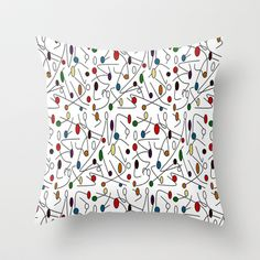Jazzy_Notes Throw Pillow by SKCreations, LLC - $20.00