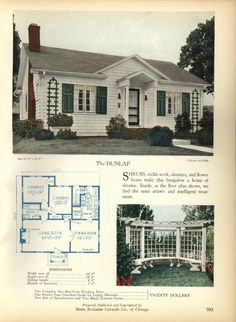 The DUNLAP - Home Builders Catalog: plans of all types of small homes by Home Builders Catalog Co. Published 1928