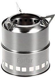 Forfar Camping Stove Portable Stainless Steel Lightweight Folding Wood Alcohol Stove for Outdoor Cooking BBQ Camping Backpacking : Sports & Outdoors