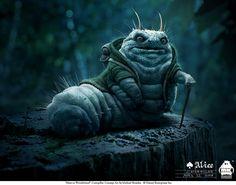 'Initial Caterpillar' by Michael Kutsche - initial concept art for the Caterpillar from Tim Burton's 'Alice in Wonderland'