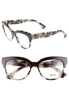 Free shipping and returns on Prada 53mm Optical Glasses (Online Only) at Nordstrom.com. A modern silhouette with a beveled brow bar refines Italian optical frames ornamented with logo inlays on the temples.