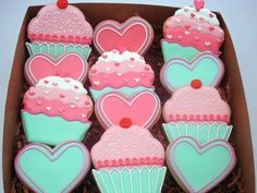 pretty colored box of cookies  heart