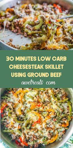 Recipes Using Ground Beef, Ground Beef Recipes For Dinner, Dinner With Ground Beef, Health Ground Beef Recipes, Ground Beef Breakfast, Healthy Low Carb Recipes, Healthy Dinner Recipes, Paleo Recipes, Zucchini Tarte