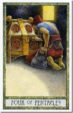 druidcraft tarot - four of pentacles