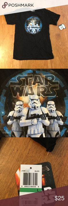 Cool Star Wars Shirt for boys or girls This brand new shirt was a gift but came without a receipt so we were unable to return it. It is a size large for kids and is super cool. Macy's Tops Tees - Short Sleeve