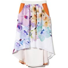 Clover Canyon: Floral Prism Skirt ❤ liked on Polyvore