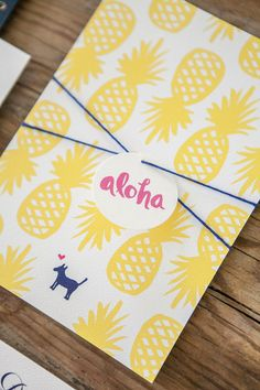 Tropical Kauai, Hawaii Destination Wedding Invitations | By Orange Paper Shoppe | Photo by Kristina Lee Photography