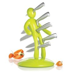 THE EX Kitchen Knife Set by Raffaele Iannello, Apple Green by CSB,  Comes in 7 Colors!!  http://www.amazon.com/dp/B004JHXO80/ref=cm_sw_r_pi_dp_Ghlksb1G4WXW6