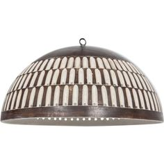 Ceramic Perforated Pendant with Copper Glaze ❤ liked on Polyvore featuring home, lighting, ceiling lights, copper ceiling lights, ceramic lights, copper chandelier, ceramic lamp and copper lighting