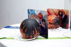 Bar Mitzvah Photo Favors - Basketball Theme  {Party at 404 NYC, Rebecca Weiss Photography} - mazelmoments.com