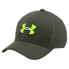 Under Armour Blitzing II Stretch Fit Cap for Kids - Downtown Green - XS/S