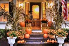 Amazing Halloween Decorations For Outside Fall Front Porch Decorating Ideas