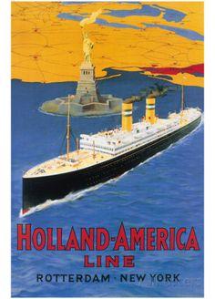 Ligne Hollande-Amérique Affiches sur AllPosters.fr
