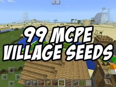 99 New Minecraft PE Village Seeds! For Minecraft PE and higher! Minecraft Pe Seeds, Minecraft Seed, Minecraft Houses, Minecraft Stuff, Minecraft Ideas, Mcpe Seeds, Minecraft Tutorial, Pocket Edition, Games For Girls