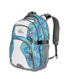 High Sierra 2230-Cubic Inches Swerve Daypack (Blue Bolts, White)  - Click image twice for more info - See a larger selection of school backpacks at http://kidsbackpackstore.com/product-category/school-backpacks/ - kids, kids backpack, school backpack, everyday backpack, school bag, gift ideas, teens backpacks.