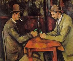 Card players now phone gamers...Famous Paintings Updated With 21st-Century Gadgets | Bored Panda