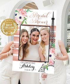 Bridal Shower Photo Props Paris Photo Prop Frame Photo Paris Bridal Shower, Bridal Shower Photos, Bridal Showers, Photo Frame Prop, Photo Booth Props, Paris Party, Paris Theme, Bridal Tops, Themes Photo