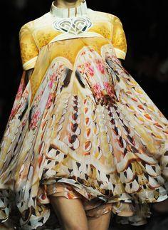 Pattern Fashion: Vivid Brights - voluminous layered dress with bold yellow mix print // Mary Katrantzou FW12