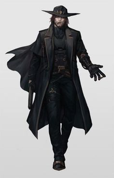 Yes, Bones, I'm aware this is just McCree from Overwatch Male Character, Fantasy Character Design, Character Portraits, Character Design Inspiration, Character Concept, Concept Art, Dnd Characters, Fantasy Characters, Estilo Dark