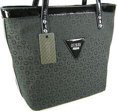 74e11ab055b Guess G Logo Purse Tote Shoulder Hand Bag Coal Jet Black Tansy GUESS http