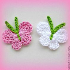 Crochet Easy Bunny Applique (for beginners) - Salvabrani Picnic Time Insulated Cooler Bag Mobile Cooler Tote -- Click image for more details. Crochet applique, 6 small crochet birds, cards, scrapbooks, appliques and embellishments Crochet Mini Baby S Crochet Butterfly Free Pattern, Crochet Birds, Crochet Flower Patterns, Crochet Motif, Crochet Flowers, Crochet Appliques, Crochet Teddy, Crochet Animals, Diy Crafts Crochet