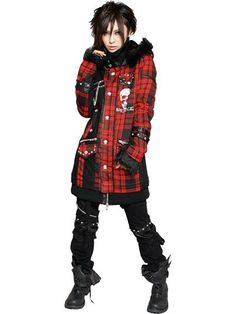SPR PUNK Coat Black Red Plaid. See more at: http://www.cdjapan.co.jp/apparel/sexpot.html #punk #jrock