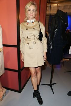 Best dressed - Diane Kruger in a trench coat