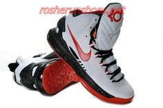 new style 8ad40 88f59 New Nike Zoom KD V Kevin Durant 5 Shoes On Sale White Black Red 554988 405
