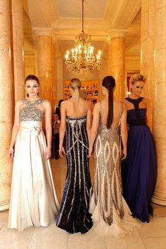 Stella McCartney Fashion Tea at Le Bristol FAR RIGHT/ evening gowns/ dress/ women's fashion