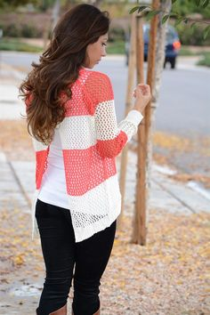 Perfect Thick Stripe Sweater With Open Back Design! {Jane Deals}