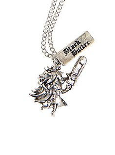 Black Butler Grell Charm Necklace,