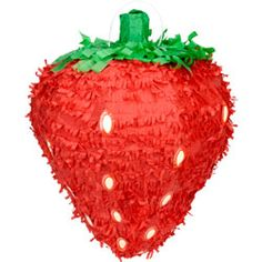 strawberry piñata for strawberry shortcake party
