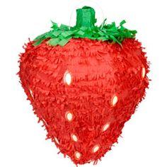 strawberry piñata for strawberry shortcake party