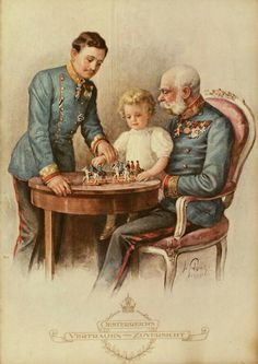 Blessed Karl I with Kaiser Franz Joseph Sissi, Kaiser Franz Josef, Franz Josef I, Die Habsburger, Fürstentum Liechtenstein, Spanish Netherlands, Austrian Empire, Holy Roman Empire, Royals