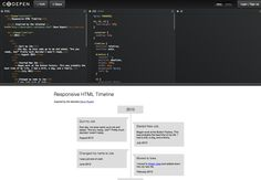 Responsive HTML Timeline code. HTML + CSS