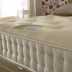 Healthopeadic Organic Cotton Latex 1000 Pocket Mattress - offers outstanding value for money with 1000 pocketed springs along with reflex foam, latex and fibre fillings. Bedroom Furniture, Bedroom Decor, Latex Mattress, Mattress Manufacturers, Bed Pillows, Pillow Cases, Organic Cotton, Luxury, Mattresses