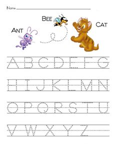 Printable Disney theme alphabet tracing pages