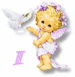 Oh my Alfabetos!: Alfabeto tintineante de angelita con paloma.