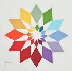 oh, my ... a diamond Dresden plate block made into a color wheel