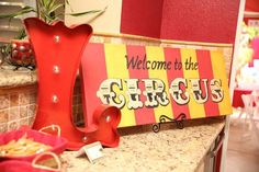 Circus Carnival themed 1st birthday party via Kara's Party Ideas | KarasPartyIdeas.com (11)