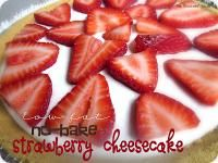 Six Sisters Low Fat No-Bake Strawberry Cheesecake Recipe. A little healthier than regular cheesecake!