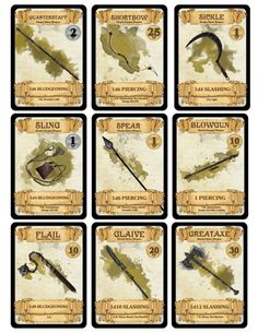 dm-paul-weber:         Weapon Cards for...