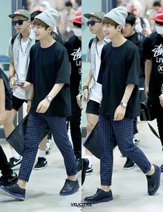 Taehyung's airport style