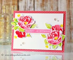 Love this pretty card created by Wanda Guess using Exclusives designed by Altenew for Simon Says Stamp.