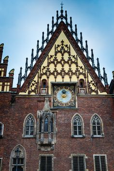 The town hall in Wroclaw (Breslau), Poland
